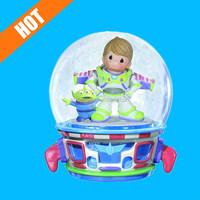 Precious Moments Boy as Buzz Lightyear Musical Water Globe Figurine