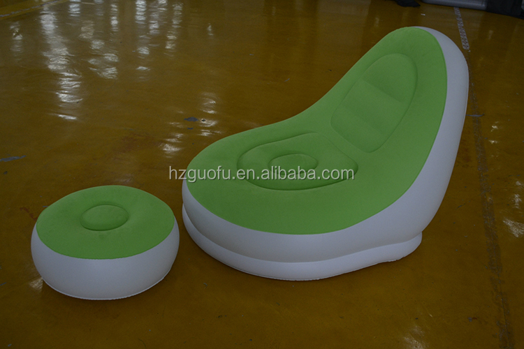 Factory Price Flocking PVC Inflatable Lounger Air Sofa Chaise Chair for Sale