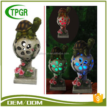 Chinese Imports Wholesale Polyresin Decoration Turtle Sit Ball Solar Garden Light