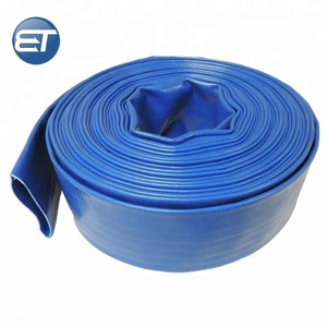 blue / red / green / yellow agriculture irrigation pipe flexible pvc lay flat hose
