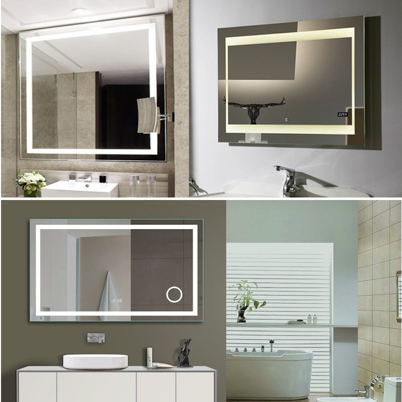 Large Wall Mirrors Led Light For Makeup Decor Home View