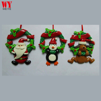 Dough Clay Christmas Garland Hanging Ornament Polymer Clay Santa Clause Hanging Ornament Buy Dough Clay Ornament Christmas Clay Dough