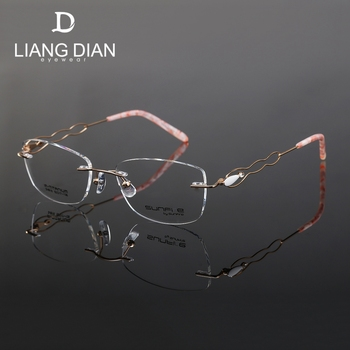 2018 Cheap Frames Optical Naturally Rimless Eyeglass Metal Rimless ...