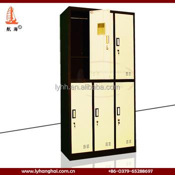 Beige Elegant Durable Portable Bedroom Wardrobe Designs Decorative Storage Locker Cabinet Clothing Closet