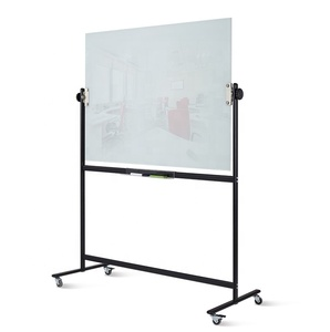 Mobile Interactive Anti-glare Glass Whiteboard office meeting