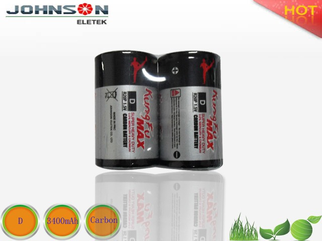 China Factory super batteries 1.5v D size carbon single-use cell battery