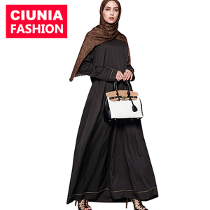 1569# On Sale Baju scarves hijab black long maxi soild simple abaya muslim dresses chic fashionable islamic clothing for women