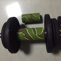 in stock wholesale small size silicone rubber thick dumbbell grip
