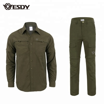 ESDY  Hunting Hiking Quick Dry Formal Shirts and Pants Men Outdoor Combat Tactical Suits