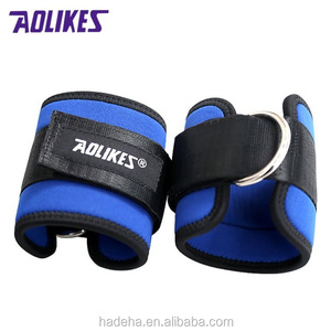 1Pcs Leg Training Weight Plus Force Foot Ring Buckle Adjustable Ankle Guard Strap D-ring Protector Leg Tubes Exercise Strength