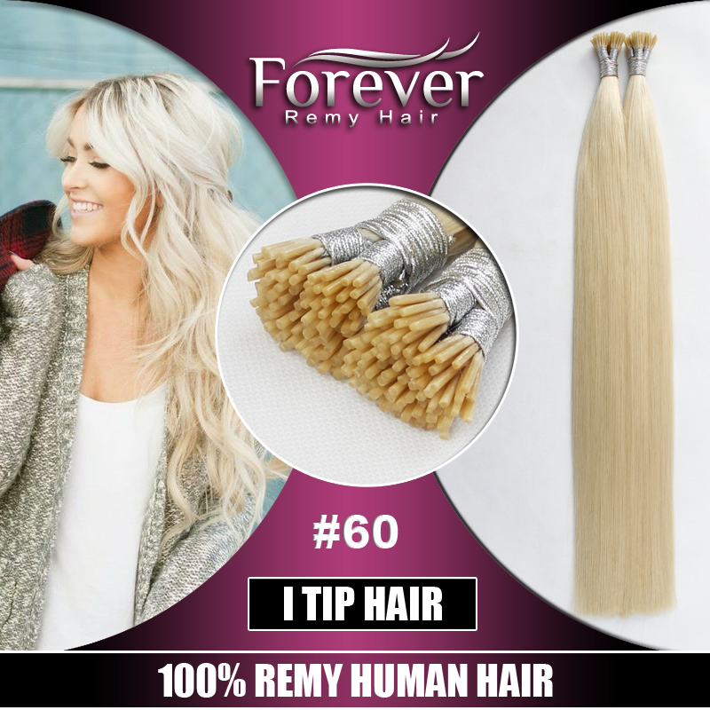 100% Full Cuticle cheap russian keratin bond i tip curly remy virgin hair extensions 30 inch
