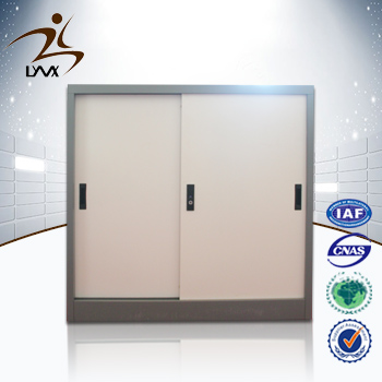 Customized 2 sliding door space saving steel company direct cabinet/ korea steel file cabinet
