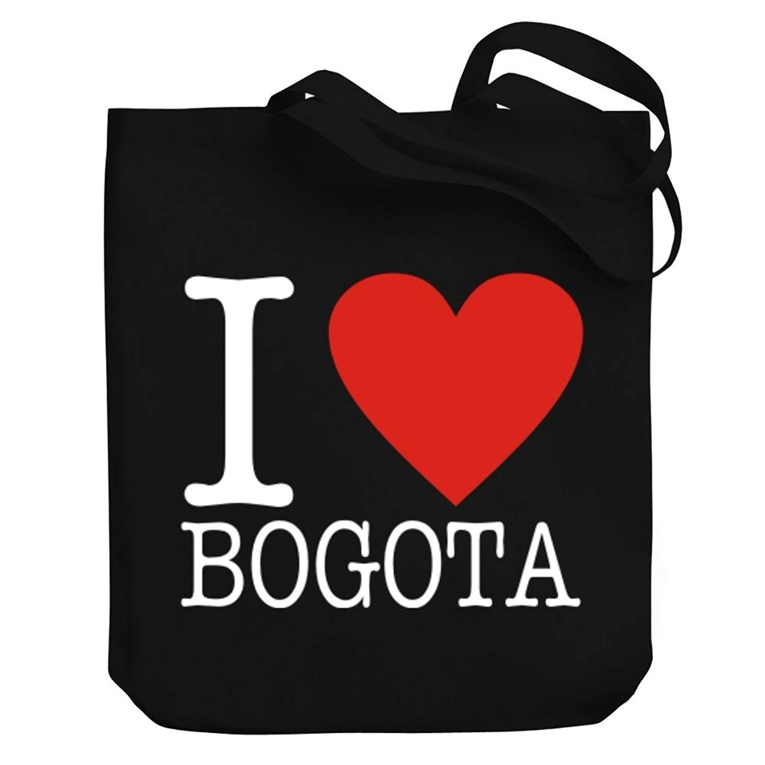Teeburon I LOVE Bogota CLASSIC Canvas Tote Bag