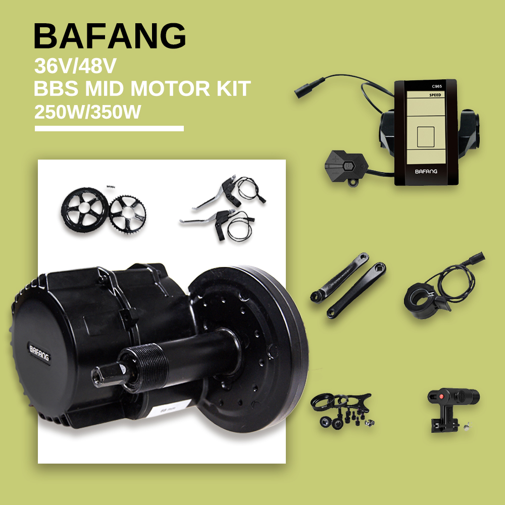 36v 250w 48v 750w 8fun bafang mid drive motor kits electric bike BBS01 BBS02 supplier