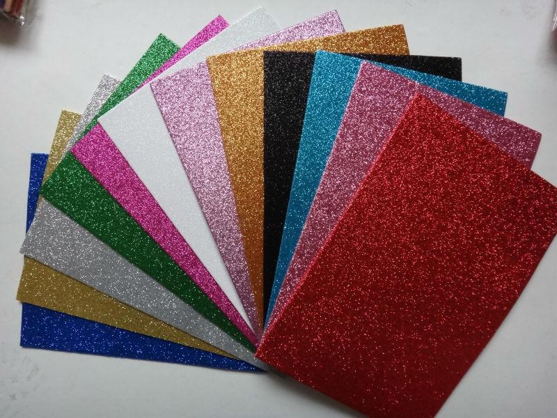 Ethylene Vinyl Acetate Sheet/ Colorful Glitter Adhesive Eva Foam ...