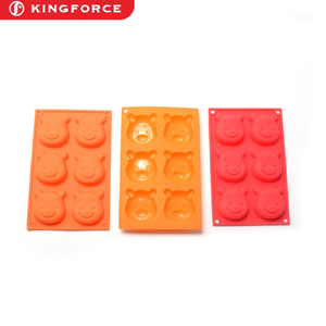 KF630055 Silicone Mold Teddy Bear shapes silicone cake mould Cupcake Backing mold Muffin pan teddy bear-shaped baking mold