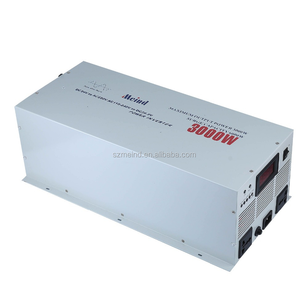China best quality manufacturer supply DC12V to AC220V 3000W Pure sine wave inverter with Battery charger
