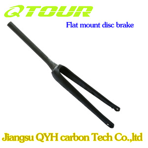 Newest Carbon CycloCross Fork 12*100mm Flat mount 700c Carbon Fork disc brake Bicycle Fork