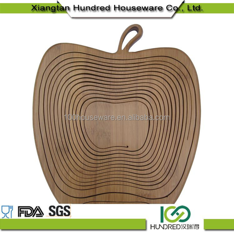 First Grade Unique Style apple shape bamboo fruit baskets