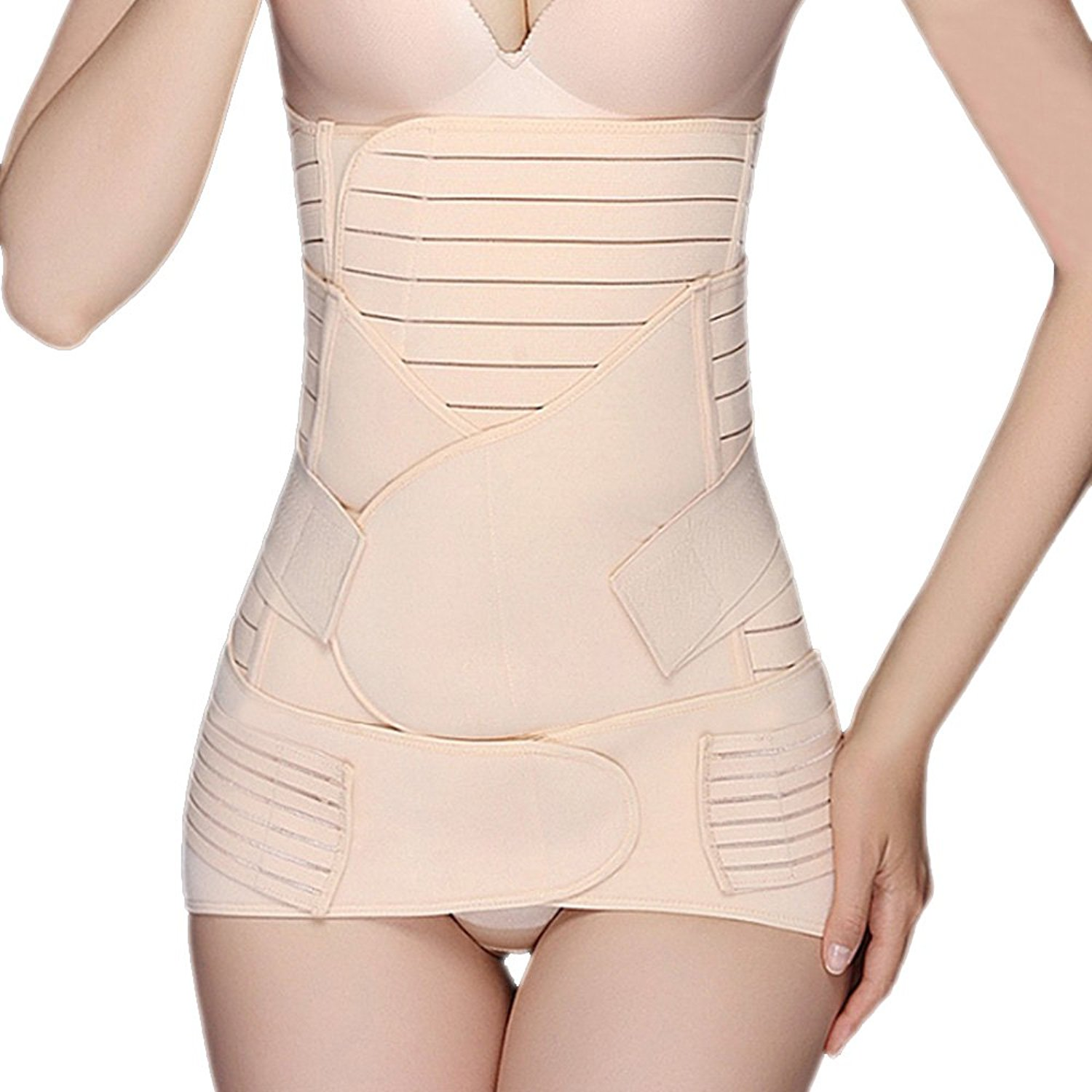 c637725386f Get Quotations · Shusuo 3-In-1 Postpartum Support Girdle Belt C-Section  Recovery Belly Shapewear
