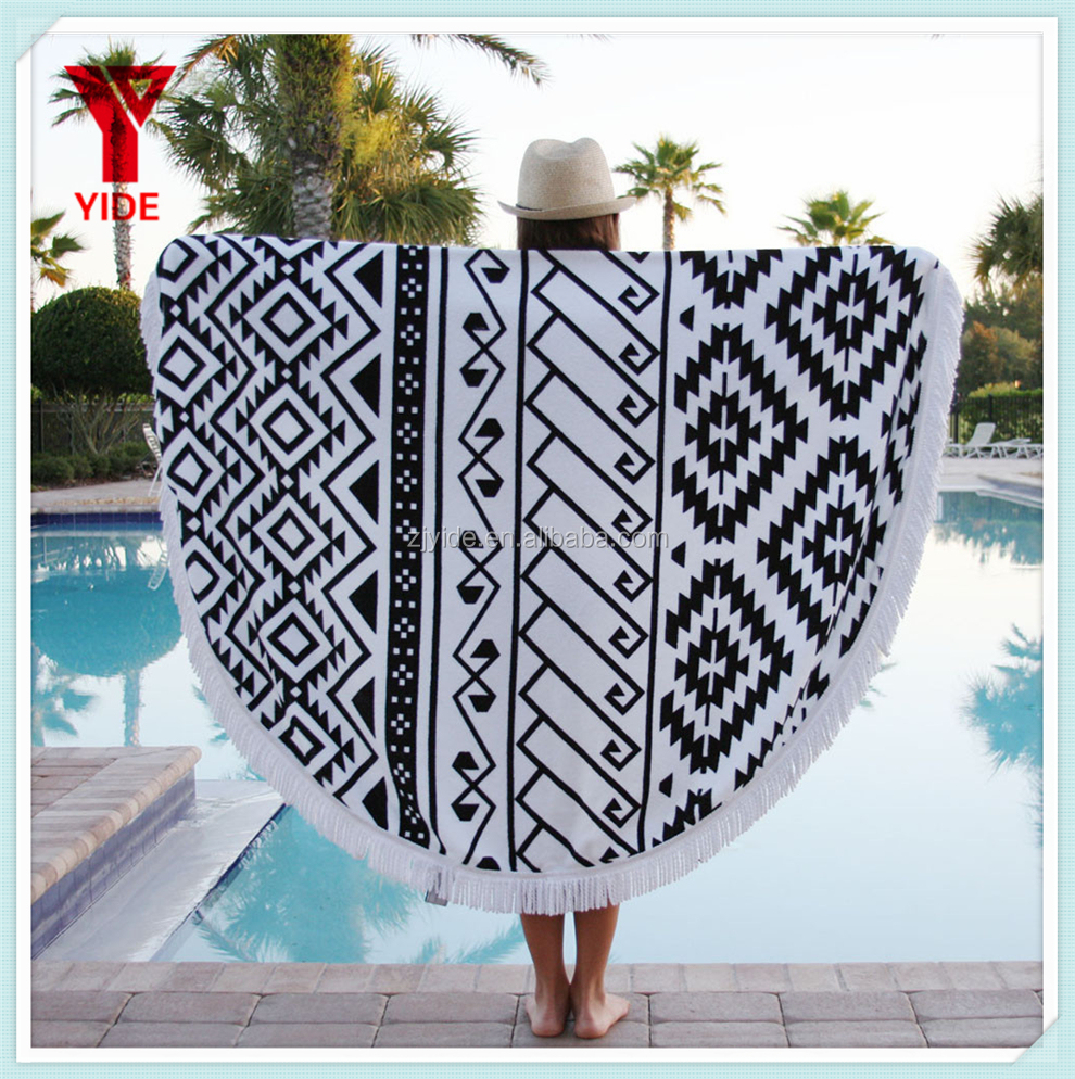YIDE 2017 NEW DESIGN High Quality Microfiber Mandalas Beach <strong>Towel</strong>