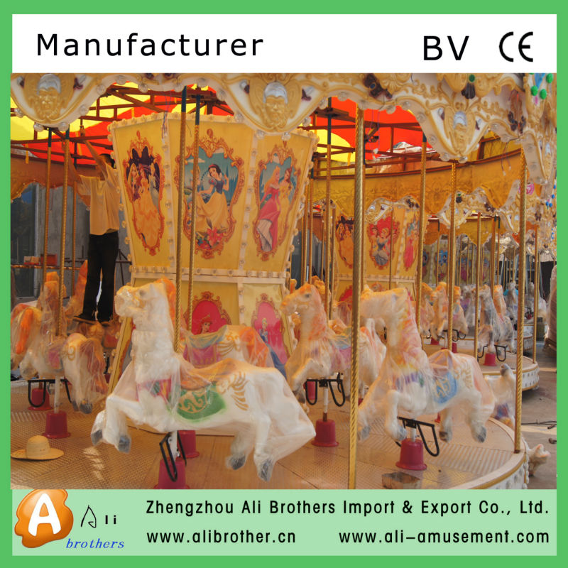 16 seats fairground merry go round carousel for sale