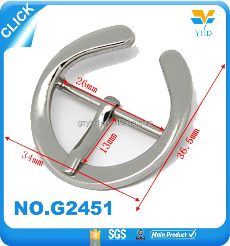special design custom hangbag accessories open metal o ring bag buckle