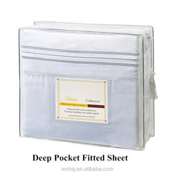 Hotel Hospital Bed Bottom White Fitted Sheet   Deep Pocket
