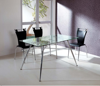 2016 Cheap Glass Dining Table Is Used Tempered Glass To Be