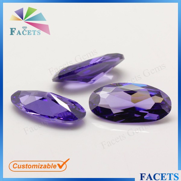 Facets Gems Man Made Jewelry Gemstones Wholesale Oval Cut Rough Amethyst Prices