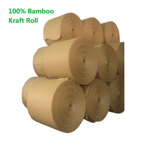 Virgin Bamboo Fiber Brown Kraft Paper for Git Wrapping and Shopping bags