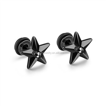 Indian Party Daily Wear Men Star Shaped Cool Stud Earrings For Boys