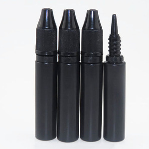 black 10ml e-liquid dropper bottle plastic 10ml e-cig liquid bottle for sale