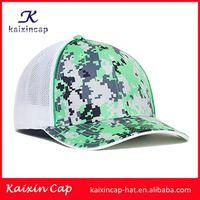 Fashion 5 panel flat brim custom plain mesh blue snapbacks