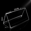 Wholesales 100X200mm V-style Double Side Acrylic Sign Holder Desk Label Holder Name Card Holder Menu Price