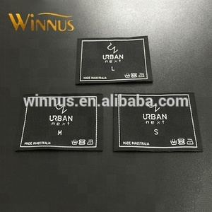 oem factory custom logo double sided woven labels for clothing