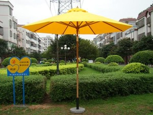 Ella 2.7M*8 hot sell high quality wood beach umbrella garden outdoor large sun Patio umbrella