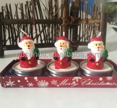 Factory wholesale Santa Claus christmas candle