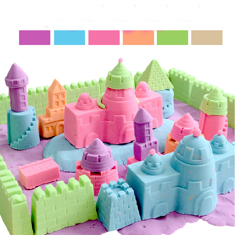 300g Space sand 1 piece mold stick space magic sand for cultivate children s imagination and