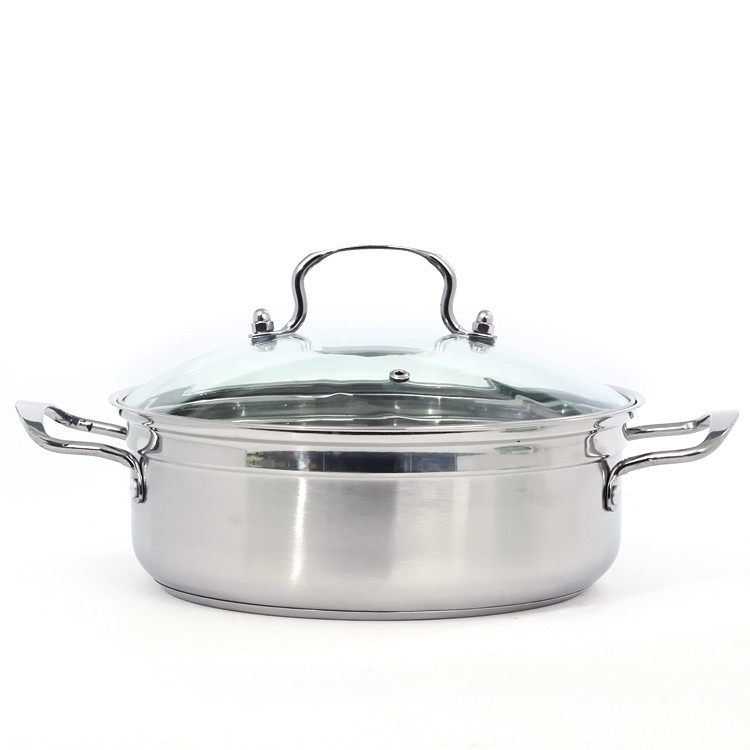 New product OEM quality stainless steel cookware sets no magnetic single bottom chafing dish