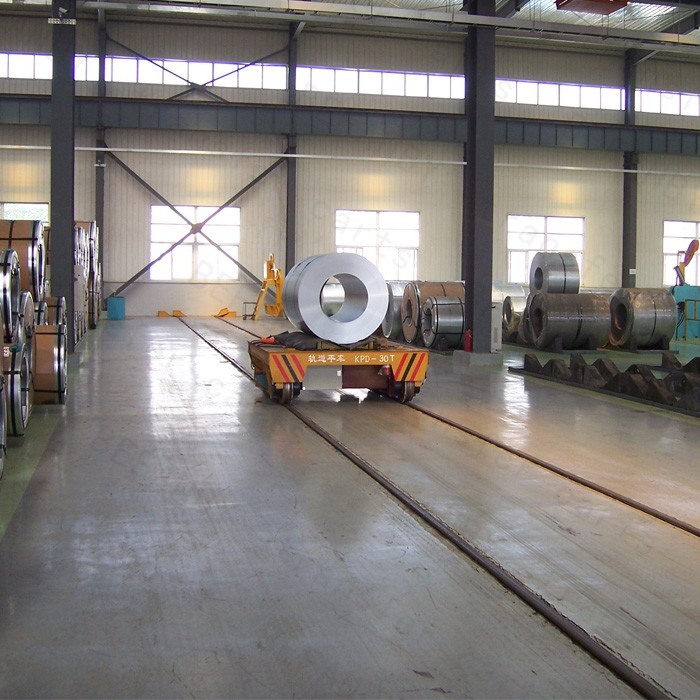 SKF bearing steel plant electric coil car for factory material transfer on rails