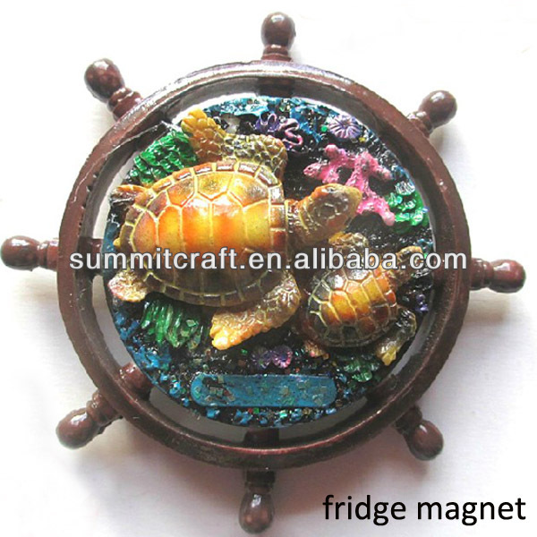 Polyresin schildpad custom 3d animal magneet