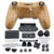 Woodgrain Full Housing Shell Case Skin Cover Button Set With Buttons Mod Kit Replacement For PS4 Controller