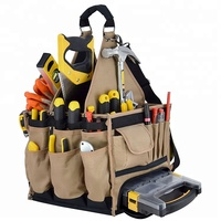 Practical Electrician Bartender Tool Bag Organizer with Tote