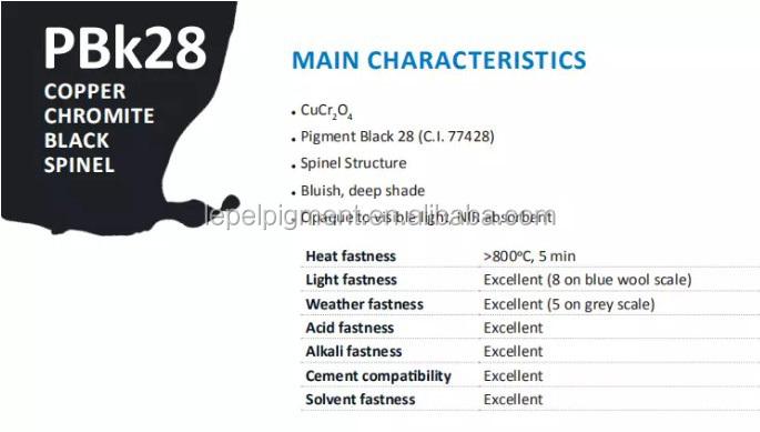 Nhiệt Độ Cao Chịu Mài Mòn Lớp Phủ Màu Sắc Tố Màu Sắc, Sắt Chrome Brown 29, P.Br.29