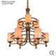 2018 Factory Lighting Big Modern Luxury Indoor Rustic Iron Bronze Electroplated Glass Restaurant LED Chandelier