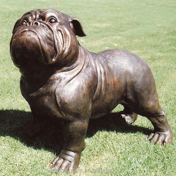 Home Decoration Life Size Br Bulldog Statue With Best Quality