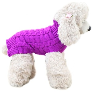 High Quality Cable Easy Knitted Free Knitting Pattern Clothes Winter Designer Pet Hand Knit Dog Sweater for Dog