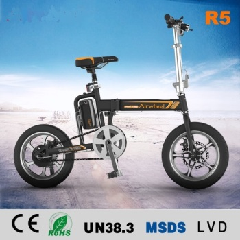 NEW ARRIVAL R5 16 inch Pneumatic Tire Disc brakes Chinese Electric Bike Folding E bike with Pedals