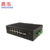Outdoor 4 1000M SFP FX ports + 8 10/100/1000M TX ports DIN Rail Gigabit managed Industrial PoE Network Switch